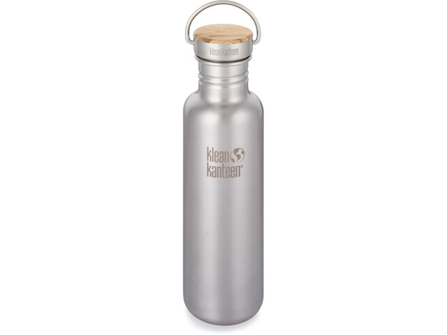 Klean Kanteen Reflect Drinkfles Bamboo Cap 800ml, brushed stainless